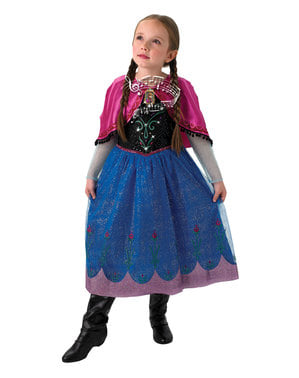 Anna Frozen музикален костюм за момичета - Замразени
