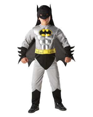 Fato de Batman metálico para menino - DC Comics