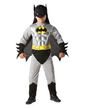 少年のためのメタリックバットマン衣装 -  DCコミックス