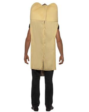 Costum de hot-dog gigant