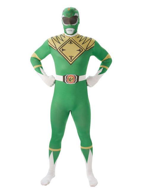 Fato de Power Ranger verde segunda pele para homem - Power Rangers Mighty Morphin