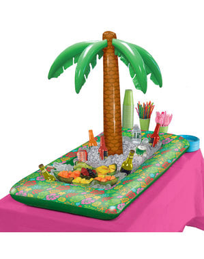 Tropisk med oppblåsbart palmetre