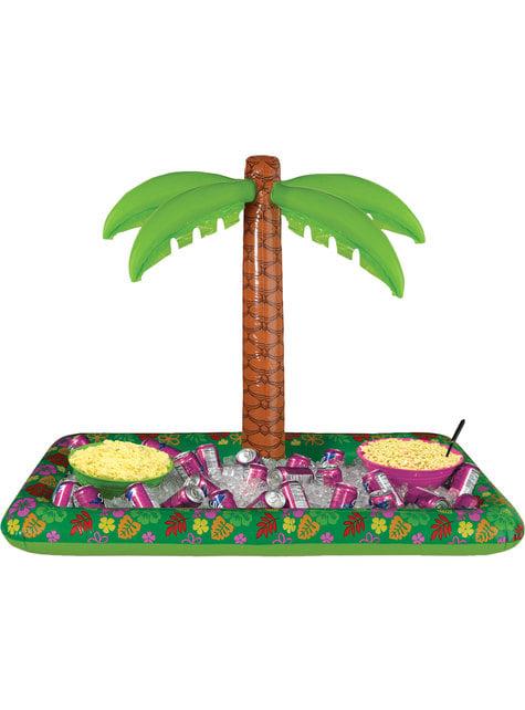 Insuflável tropical com palmeira