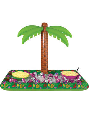 Tropical inflatable with palm tree