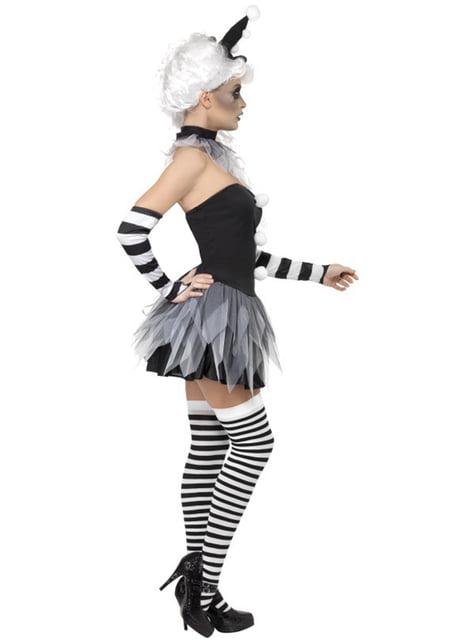 Elak Pierrot Maskeraddräkt