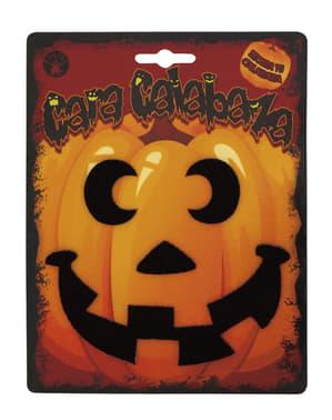 5 Halloween verschillende pompoen decoratie stickers