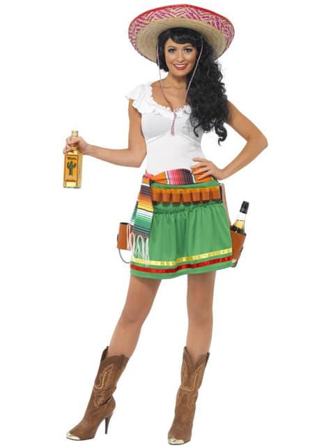 Дамски костюм на мексиканско момиче с шотове
