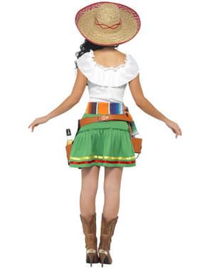 Fato de mexicana a servir tequilla para mulher