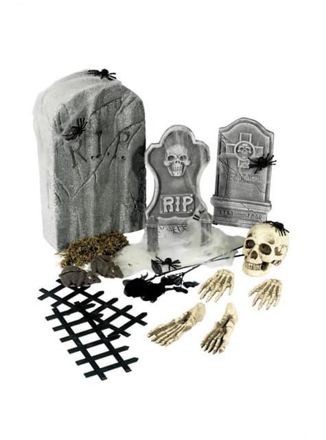 24 con articoli di cimitero Halloween