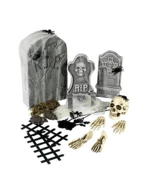 24 piezas de cementerio Halloween