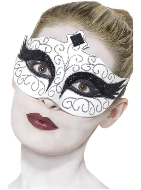 Schwanen Augenmaske schwarz