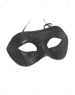 Sort Venetiansk Øjenmaske