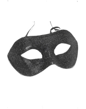 Máscara veneziana preta