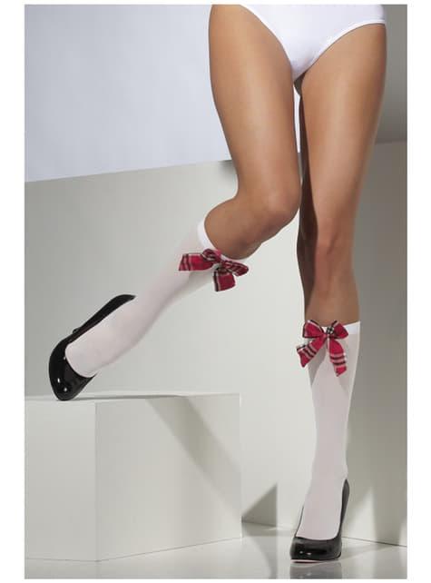 Koulutytön polvenkorkuiset sukat