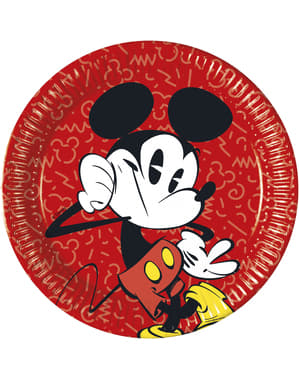 8 platos grandes Mickey Mouse (23cm) - Mickey Comic