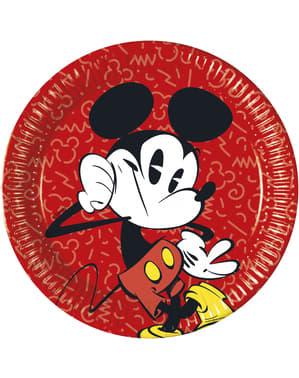 Zestaw 8 dużych talerzy Mickey Mouse