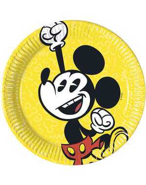 8 small Mickey Mouse plates (20 cm) - Mickey Comic