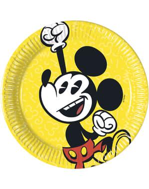 Sæt af 8 små Mickey Mouse tallerkner
