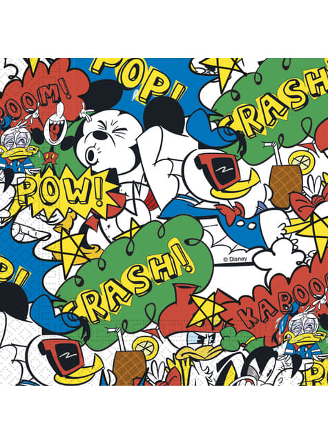 20 servilletas Mickey Mouse (33x33cm) - Mickey Comic
