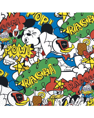 20 guardanapos Mickey Mouse (33x33cm) - Mickey Comic