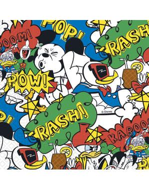 20 Mickey Mouse servette (33x33cm) - Mickey Comic