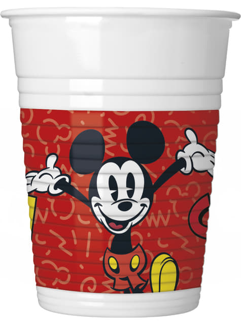 8 vasos Mickey Mouse - Mickey Comic