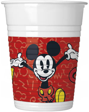 8 vasos Mickey Mouse - Mickey Comic