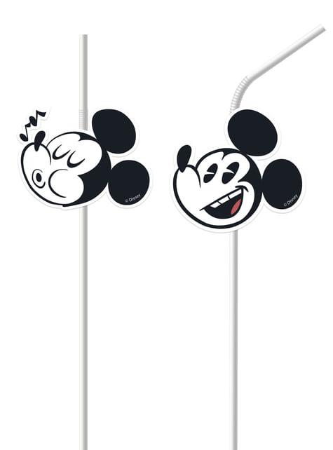 6 pajitas Mickey Mouse
