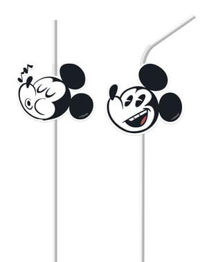6 palhinhas Mickey Mouse