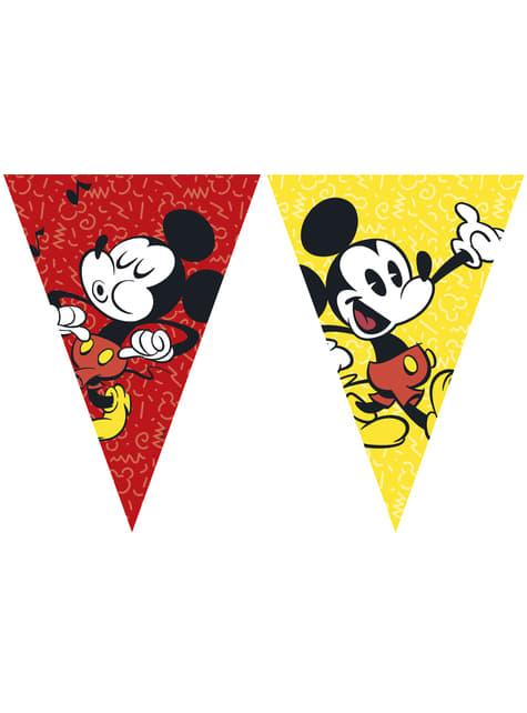 Guirnalda triángulos Mickey Mouse - Mickey Comic