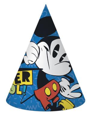 6 gorritos de cumpleaños Mickey Mouse - Mickey Comic