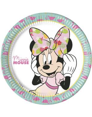 Sæt af 8 store Minnie Mouse tallerkner