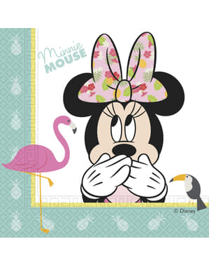 20 Minnie Mouse napkings (33x33cm) - Minnie Tropical