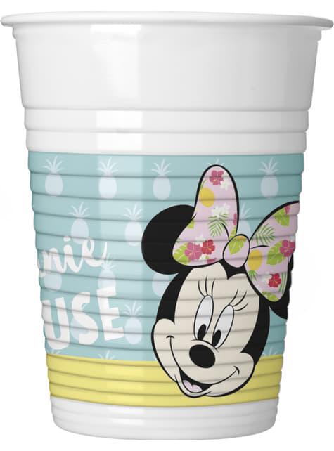 8 vasos Minnie Mouse - Minnie Tropical