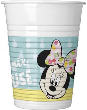 Conjunto de 8 copos Minnie Mouse