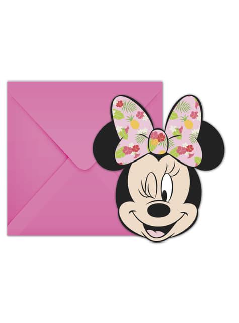 Conjunto de 6 convites Minnie Mouse