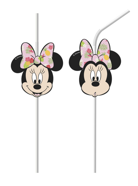 6 pajitas Minnie Mouse - Minnie Tropical