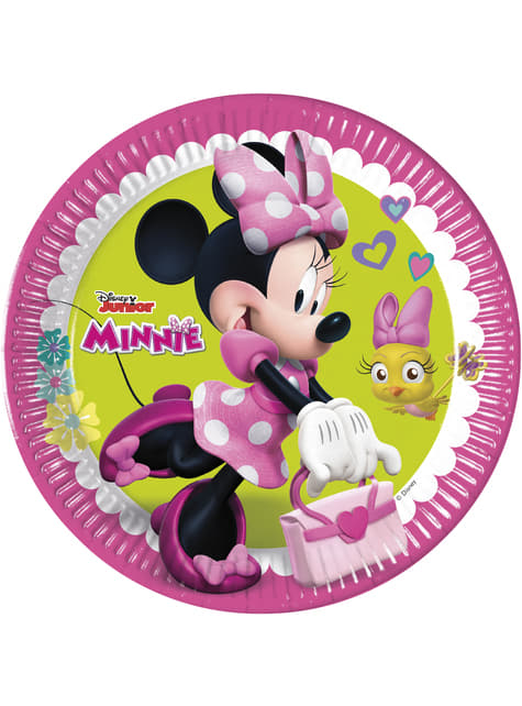 8 platos grandes Minnie Mouse Junior (23cm)
