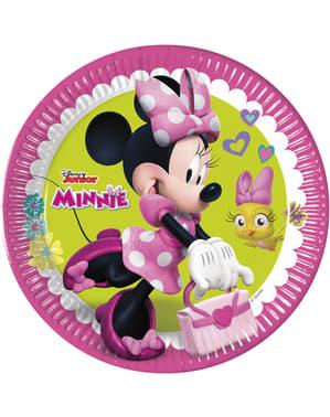 Sæt af 8 store Minnie Mouse junior tallerkner