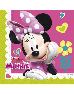 Sæt af 20 Minnie Mouse junior servietter
