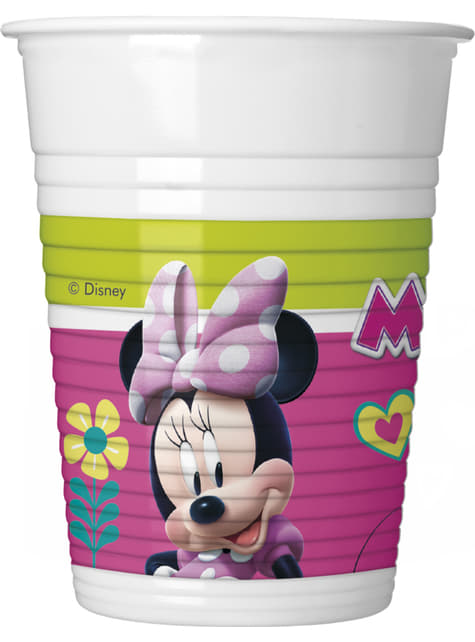 8 vasos Minnie Mouse Junior