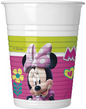 8 copos Minnie Mouse Junior