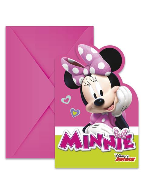 Conjunto de 6 convites Minnie Mouse Junior