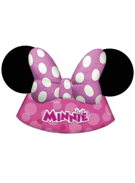 6 gorritos Minnie Mouse Junior