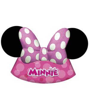 6 chapelinhos Minnie Mouse Junior