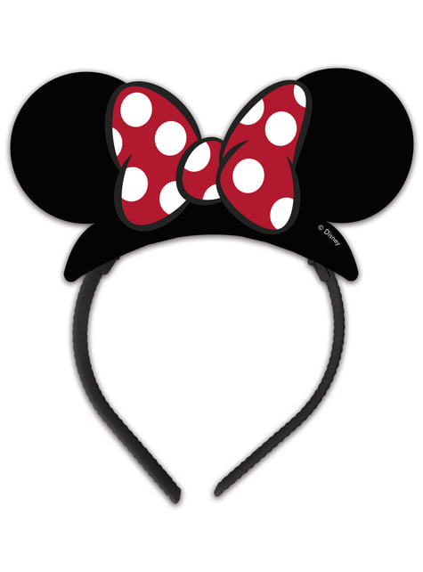 Conjunto de 4 tiaras Minnie Mouse
