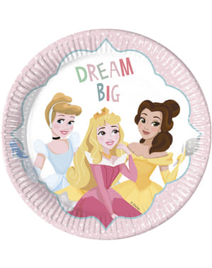 8 stora tallrikar Disneyprinsessor (23 cm)