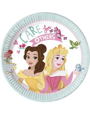 Sæt af 8 små disney prinsesser tallerkner