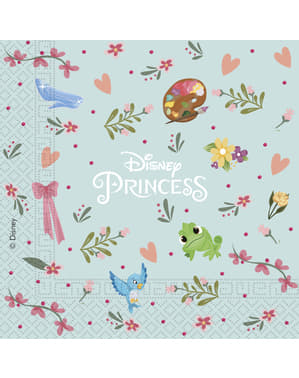 20 serviettes en papier Princesses Disney