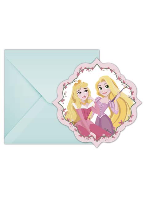 Conjunto de 6 convites Princesas Disney